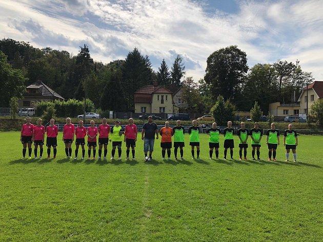 Ze zápasu žen Měchenice - Čechtice.