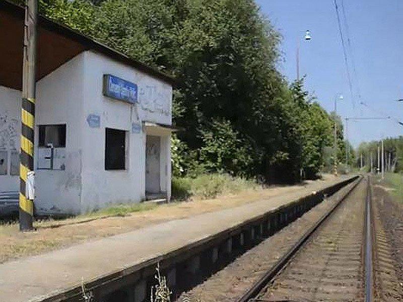 Vizualizace budoucího koridoru mezi Heřmaničkami a Meznem - současná zastávka Červený Újezd u Votic.