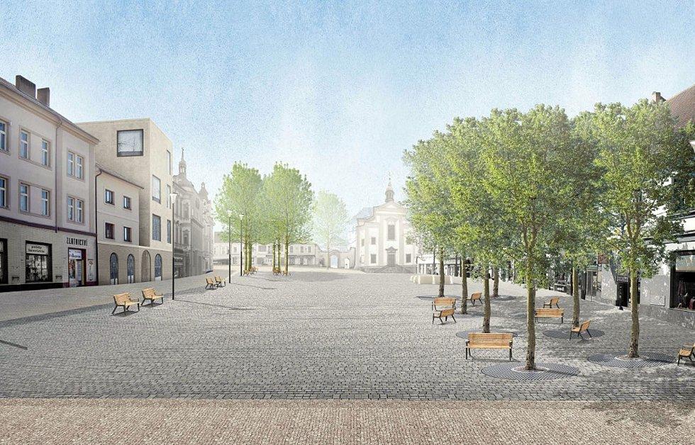 Architektonická soutěž na změnu podoby Masarykova náměstí, 2. místo.