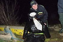 Noční cvičení dobrovolných hasičů z votického a jankovského okrsku.