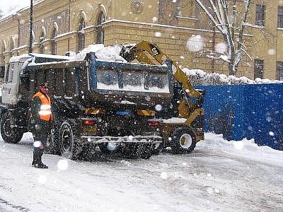 Sněhová kalamita v Benešově