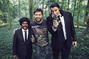 Z natáčení filmu 'Tloskov fičí': Ondra, Matěj Lipský a Jirka.
