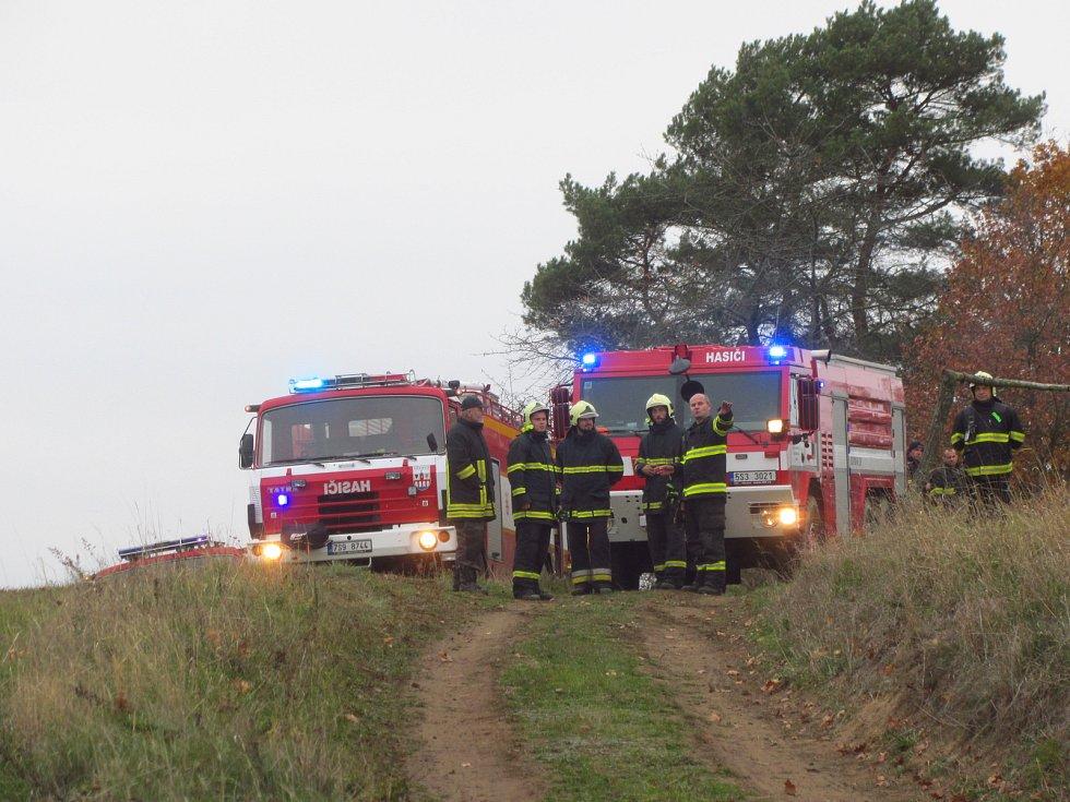 Požár lesa u Drahňovic.