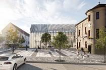 Vizualizace inovačního centra Brain 4 Industry v Dolních Břežanech.