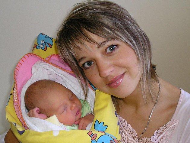 Klára Vojáčková se od 3. října od 14.13 raduje ze své dcery Elišky (3,2 kg, 49 cm). Tatínek Jiří a bratříček Adámek se už doma v Benešově na sestřičku těší.