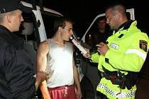 Policejní kontrola na alkohol