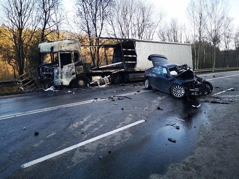 Tragická nehoda u Votic.