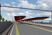 Budoucí podoba železniční stanice Praha- Hostivař.