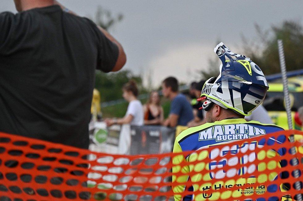 Z motokrosových závodů Rock'n'Ride v areálu Kavčák v Benešově.