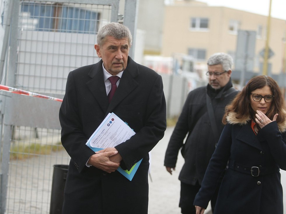 Z pracovní návštěvy premiéra Andreje Babiše v Nemocnici Rudolfa a Stefanie v Benešově.