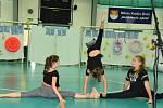Ze školní akademie ve sportovní hale v Králově Dvoře.