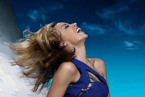 Zpěvačka Kylie Minogue.
