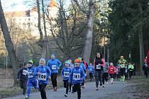 Ze 20. ročníku Novoročního běhu na Konopišti.