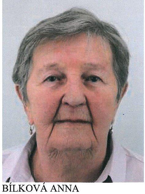 Pohřešovaná 84letá Anna Bílková.