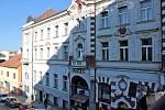 Lidová jídelna v přízemí komplexu Hotelu Pošta v Tyršově ulici.