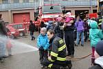 Prohlídka u benešovských hasičů.