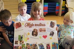 Děti z mateřinky MiniSvět Mrač tvořily na téma Moje rodina.