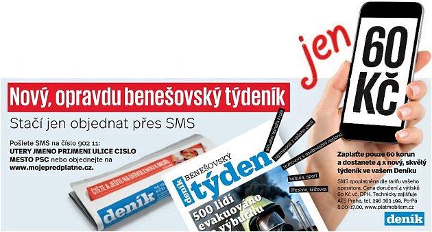 Předplatné týdeníku Benešovský týden.
