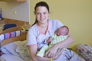 Manželé Zuzana a Pavel Škábovi zTýnce nad Sázavou jsou od 29. května rodiči malého Šimona, který se jim narodil v14.51 sváhou 4140 gramů a mírou 53 centimetrů.