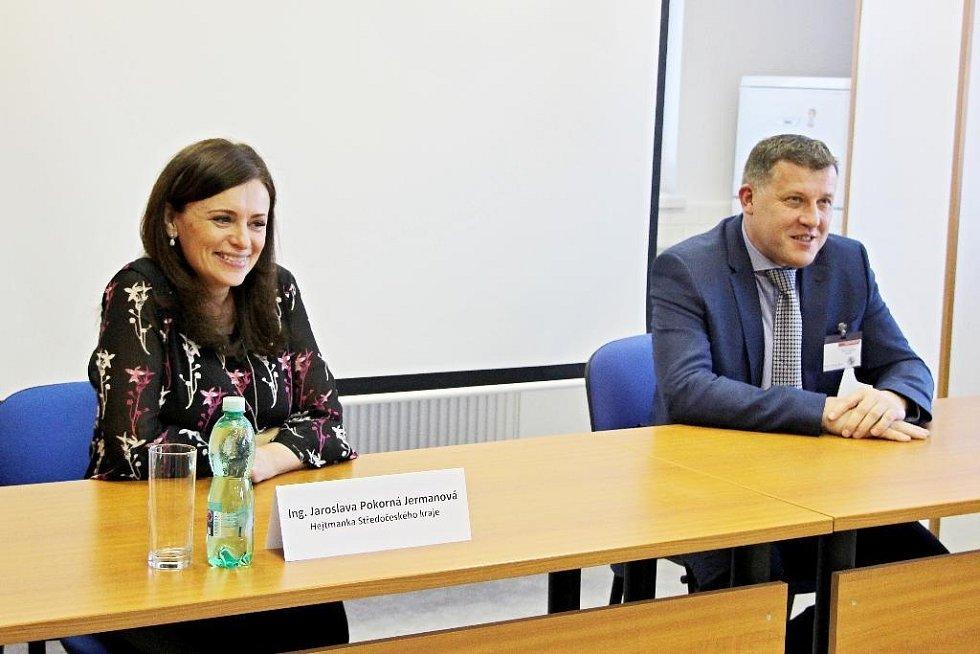 Z návštěvy hejtmanky Jaroslavy Pokorné Jermanové v Nemocnici Rudolfa a Stefanie v Benešově.