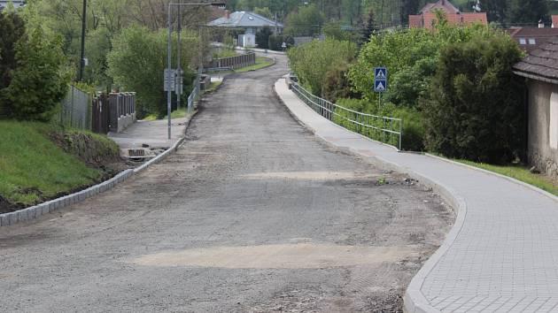 Rekonstrukce Benešovské ulice v Poříčí nad Sázavou.