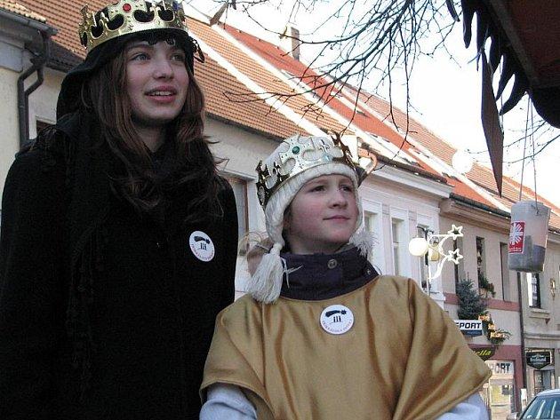Tříkrálová sbírka v Benešově.