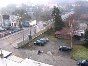 Stavba supermarketu Lidl v Týnci nad Sázavou pokračuje