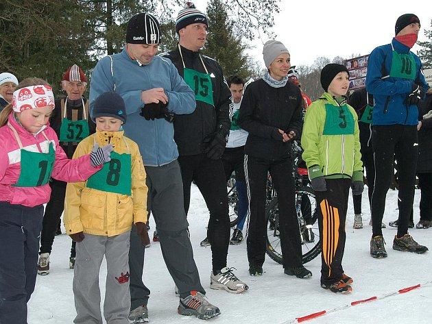 Start Novoročního běhu na Konopišti.