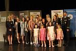 Z vyhlášení výsledků výtvarné a literární soutěže pro děti na téma 'Všichni jezdí připoutaní' v Muzeu Policie České republiky v Praze.
