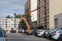 Modernizace benešovského osvětlení v ulici Na Bezděkově.
