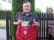 Jarní část TIP ligy vyhrál Josef Kyselka z Teplýšovic, který se těšil z reprezentačního dresu.