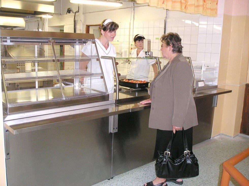 Školní jídelna v benešovské Jiráskově ulici.