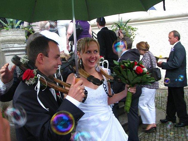Marie a Jan Marešovi si řekli ANO v sobotu 22. srpna na Konopišti
