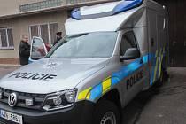 Policejní terénní vůz má už za sebou první ostré výjezdy.