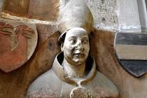 Busta Jana Očka z trifória chrámu sv. Víta v Praze (replika v muzeu ve Vlašimi).