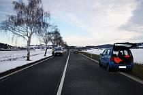 Dopravní nehoda na silnici I/3 u Tomic a Olbramovic..