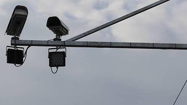 Úsekový radar. Ilustrační foto.