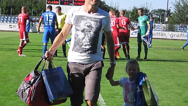 Před zápasem s Olomoucí se vlašimští rozloučili s Ondřejem Průchou, jenž ukončil profesionální kariéru.