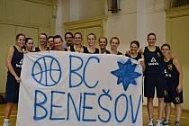Basketbalistky Benešova slaví postup do 1. ligy.