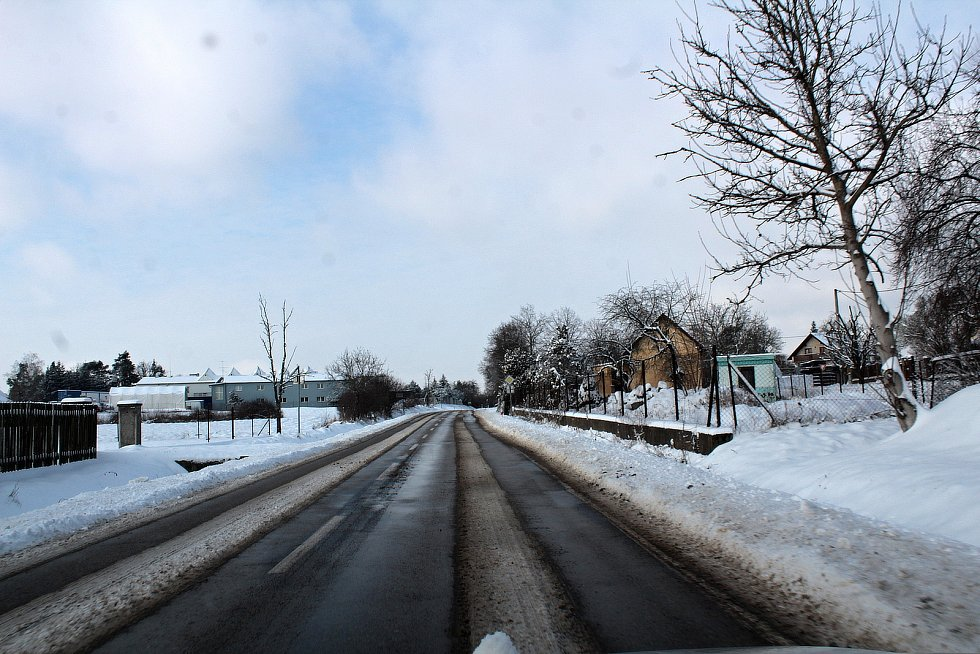 V Bukovanech v pondělí 8. února 2021 po vydatném nočním sněžení.