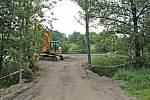 Rekonstrukce vodní nádrže v načeradské části Olešná.