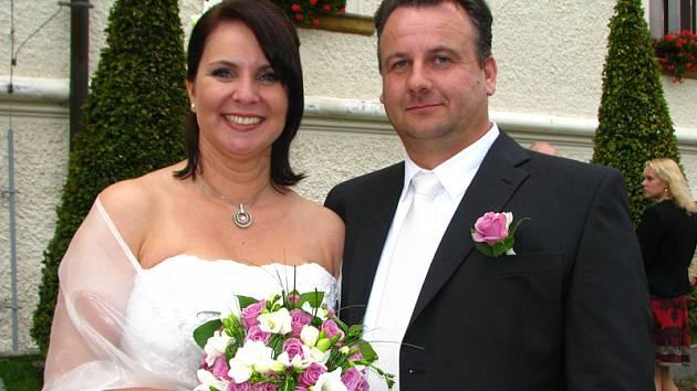 Svatba Jany Vávrové a Františka Harvana z Čerčan.
