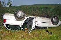 Páteční ranní nehoda u Černého lesa.