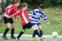 Fotbalový zápas I. A třídy starších žáků Benešov B - Sedlec-Prčice 2:1.