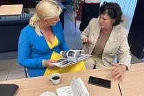 Z návštěvy představitelů Středočeského kraje v čele s hejtmankou Petrou Peckovou na Ukrajině.