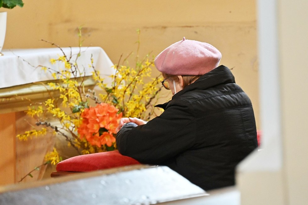 Bílá sobota v kostele sv. Mikuláše v Benešově.
