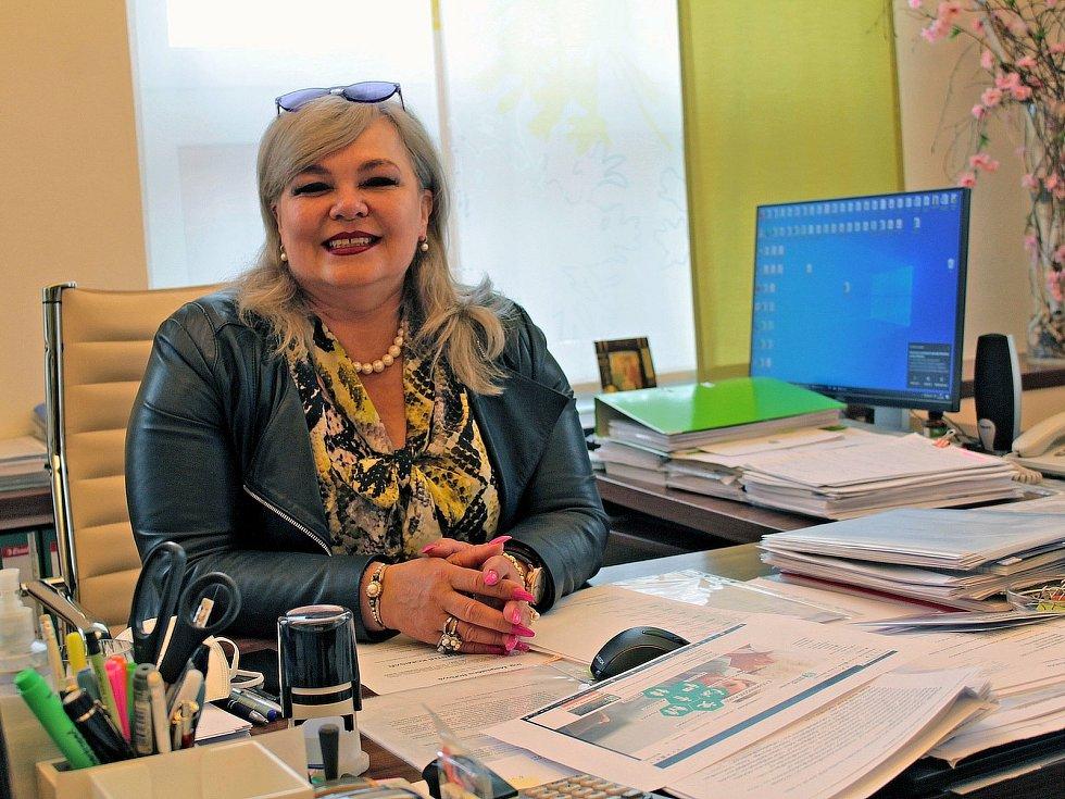 Ředitelka Střední zemědělské školy v Benešově Ivana Dobešová.