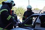 Hasičsko - záchranářské cvičení v Přestavlkách u Čerčan.