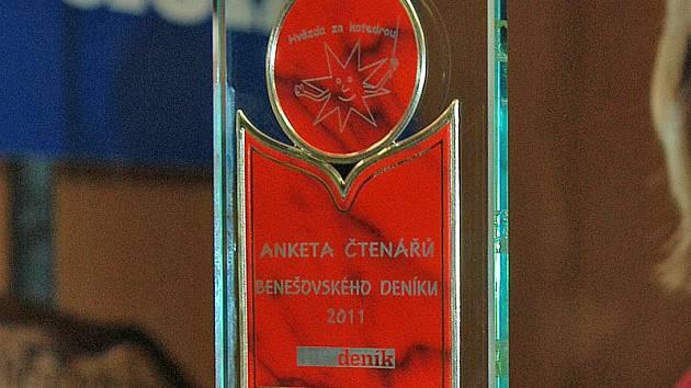 V loňské anketě plaketu získala Dana Oktábcová ze ZŠ Týnec nad Sázavou.