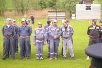 Zázemí pro pořádání 1. kola soutěže v požárním sportu nalezli vojkovští dobráci společně s vrchotojanovickými na maršovickém fotbalovém stadionu.